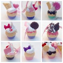 Dijes Cupcakes Souvenir 15 Años Bodas X Unidad