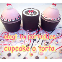 10 Dijes Cintas + Porta Dijes Cupcake Grande 15 Años+ Anillo