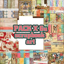 Pack X 6u Scrapbook ¡muy Completo! ¡muchos Papeles!
