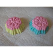Exclusivos Cupcakes De Jabón Bicolor, Souvenirs 10 Unid