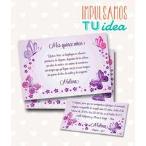 Tarjeta De 15 Para Imprimir - Invitación Y Personal Melina