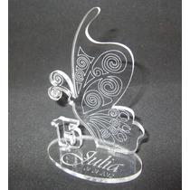 Souvenir Mariposa 15 Años Acrilico C/ Nombre Y Fecha Grabado