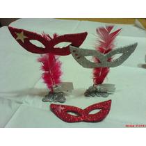 Set De Dos Souvenirs Con Base Metalica (mariposa) C-antifaz