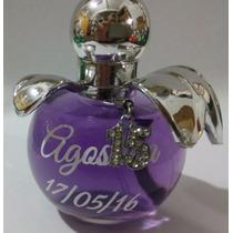 100 Souvenir Perfume Tapa Celeste 15 Anos -cumpleaños