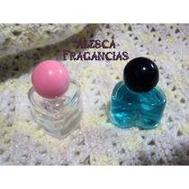 Envase Frasco Vidrio Corazon,10cc, Perfume Fino, Souvenirs