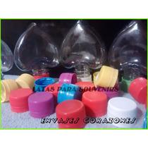 Envases De Corazones Con Tapa Plastica X10