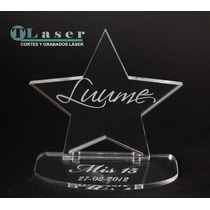 Souvenir Para 15 Años En Estrella Con Nombre Grabado
