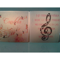 Clave De Sol, Velas Y Fanales Con Notas Musicales,souvenirs