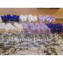 Souvenirs 15 Años Delicadas Rosas Artesanales En Porcelana