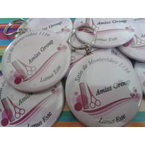 Llaveros Personalizados-souvenirs-pins 38 Mm Pack X 10un