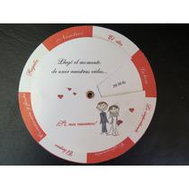 85 Invitaciones Giratorias Tarjetas De Casamiento, 15 Años