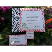 Invitaciones Para 15 Años Tarjetas De 15 Animal Print Rosa