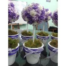 Topiarios- Arbolitos,centros De Mesa, De Flores De Porcelana