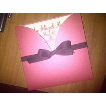 Tarjetas 15años + Tarjeton 14x14 + Individual +sobre+ Cinta