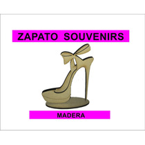 Souvenirs Madera Zapato X 5 Unidades
