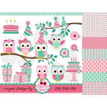 Kit Imprimible Buhos Y Lechuzas 42 Imagenes Clipart