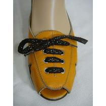 Mishka Zapatos Acordonados 37 Cuero Vaca Naranja (ana.mar)
