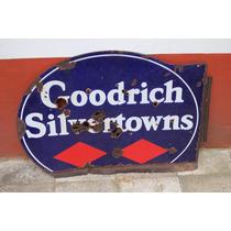Antiguo Cartel Enlozado Neumáticos Goodrich
