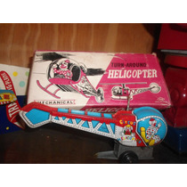 Antiguo Juguete De Chapa Helicoptero