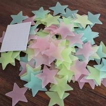 Pegatinas De Pared Estrellas Fluorescentes X50u