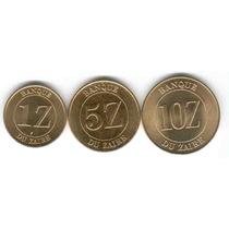 Zaire Set 3 Monedas Años 1987-1988 Bellas Y Raras!