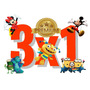 Kit Imprimible 3x1 Candy Stickers Cumpleaños Fiesta Bautismo