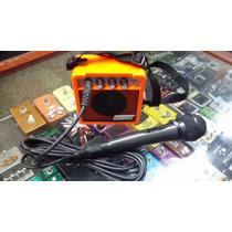 Mini Amplificador Matrix 5 Wats + Microfono! Karaoke!!