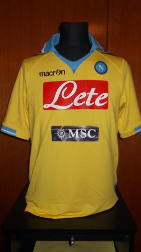 Camiseta Del Napoli Macron Amarilla Lavezzi Utileria 1e02ae7f3f3f9