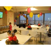 Centro De Mesa Mickey Con Globos