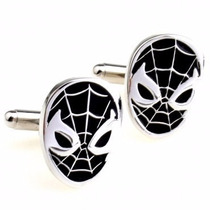 Gemelos Spider Man Hombre Araña Venom Retro Geek Cuff Links