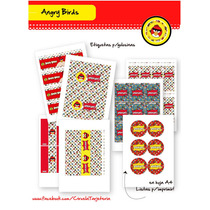 Angry Birds - Kit P/imprimir Con Texto Editable!!