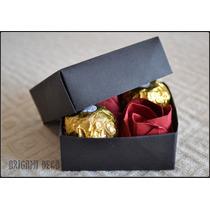 Regalo Romantico! 2 Rosas Origami +2 Bombones Ferrero Rocher
