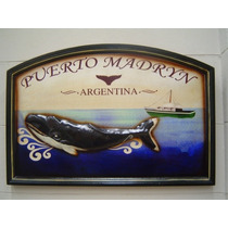 Cuadro De Madera Puerto Madryn