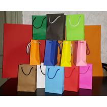 Bolsas De Papel 10x15x6.5 Varios Colores Pack X 10