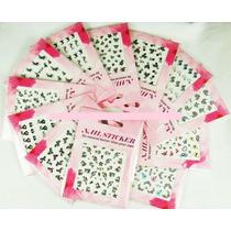 3 Planchas Stickers Decoración Uñas Nail Art A Elección