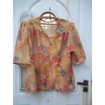 Camisa Señora Estampada Talle Xxl Verano Fresquita