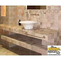 Ceramica Cerro Negro Fortezze Marfil Arena Gris 10x10 Rustic
