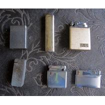 Lote De 6 Encendedores Antiguos A Gas Y A Bencina