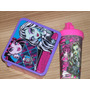 Monster High Y Sofìa-tupper Para Vianda Infantil Y Vaso 3 D