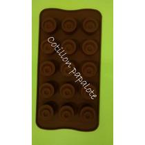 Placa Silicona Bombon Chocolate Redondo Reposteria Corazon
