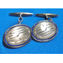 Gemelos Antiguos De Plata Con Baño De Oro