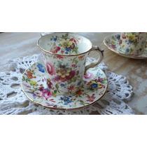 Taza De Café Porcelana Inglesa Hammersley Chintz England