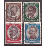 3º Reich Alemania 1934 Serie 4 Sellos Usados 26 U$d