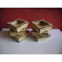 Caja Con Tapa De 10x10x4cm (mdf) X 10 Unidades.