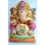 Pieza De Yeso: Ganesha Pintada A Mano. Personalizada.