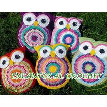 Almohadones Búhos Chicos. Encantos Al Crochet