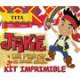 Kit Imprimible Candy Bar Golosinas De Jake Y Los Piratas