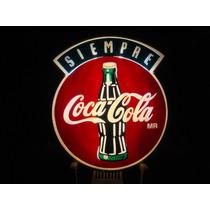 Botellas Coca Cola Cartel Luminoso Boton Acrilico 90x105 Cm