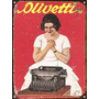 Chapa Publicidad Antigua Maquina De Escribir Olivetti Z603