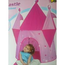 Castillo Princesas Rosa Carpa Plegable Pelotero Casita Iplay